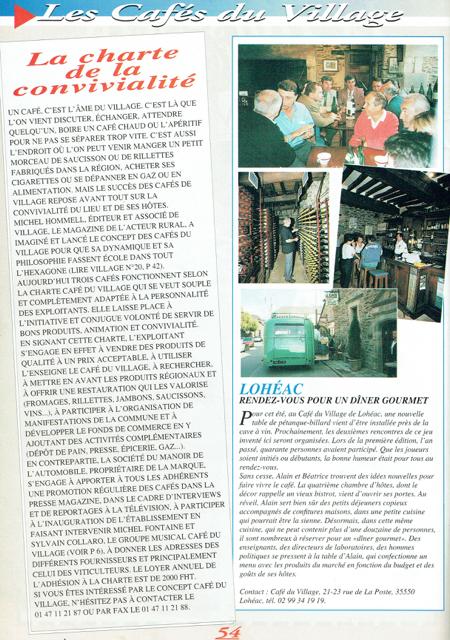 loheac hotel histoire cafe du village